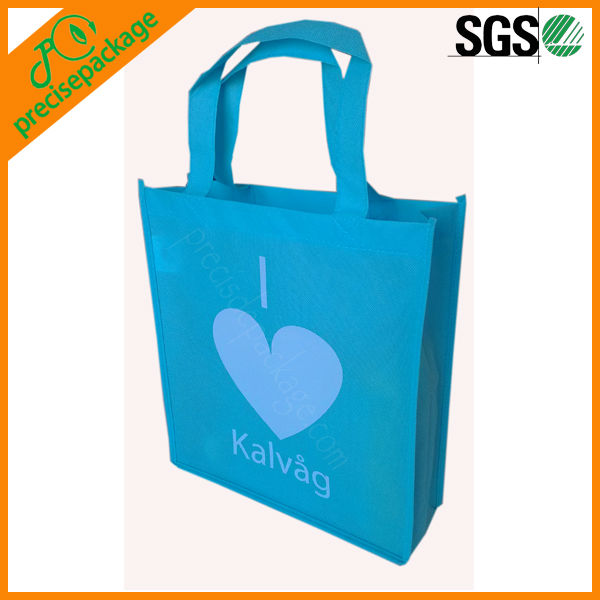 Blue color non woven promotional shopping tote bag (PRA-819)