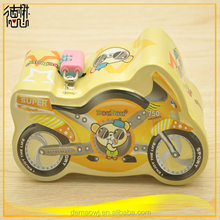 cheap motorcycle shape tin box money box gift box for promotion