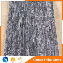 Black Marble Mosaic tiles with wood veins
