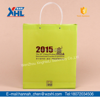 promotional gold stamping gift bag foldable shopping bag (with pipe handle )