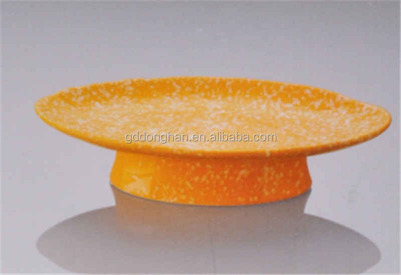 new fashion orange ceramic plate boat feet shaped plate