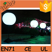 LED Oxford cloth inflatable light stand balloon with pole