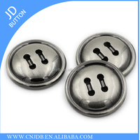 high quality fashion custom made four holes metal button for garment 20mm