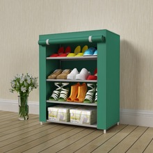 Suoernuo 04C High Quality Waterproof Rolling Door Shoe Rack Cabinet With Fabric Cover