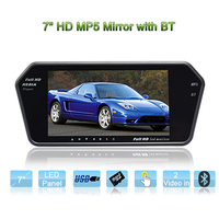MP5 7inch used car mirrors for sale 1080P movie full format