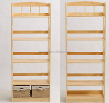 design wooden book rack wood book store shelves wooden book display stand