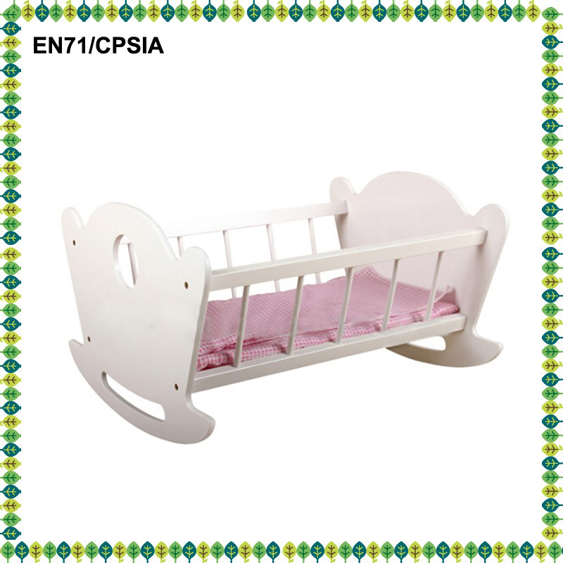 hot sale wooden doll cradle toys swing cradle