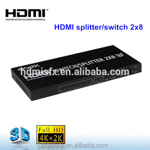 HDMI 1.4 HDMI matrix HDMI splitter switch 2x8 by SFX company