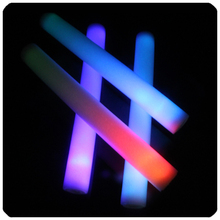 Super junior!!!New listingRainbow flashing led foam sticks for concert cheering