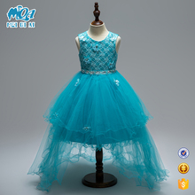 New Arrival Fashion Design 3 Year Old Small Girls Birthday Party Dress With Lace Veil WGL1704