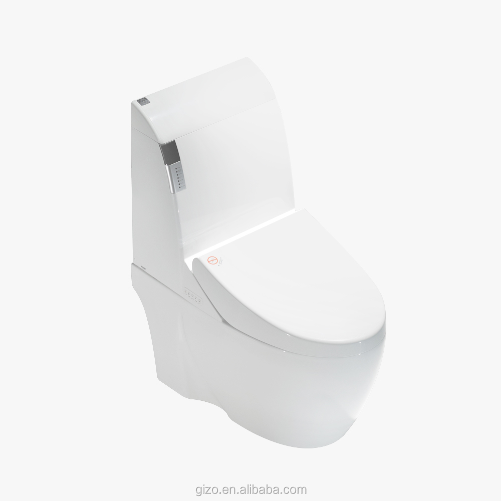 Most popular unique design smart toilet with remote controller