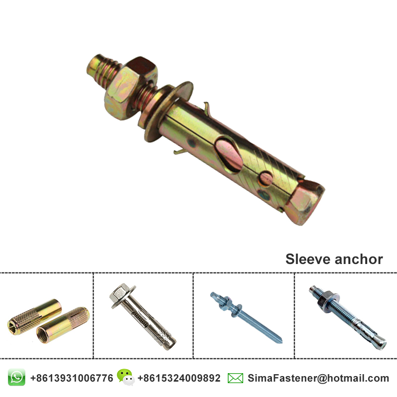 China Leading Manufacturer sleeve anchor