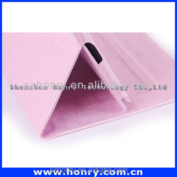 high sale leather case for ipad 2 and ipad 3 made in China
