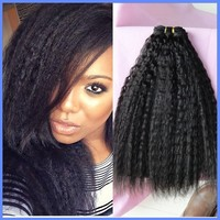 Wholesale fast shipping kinky straight Peruvian human hair extension for black women