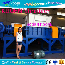Full automatic waste plastic pe pp double shaft shredder blade