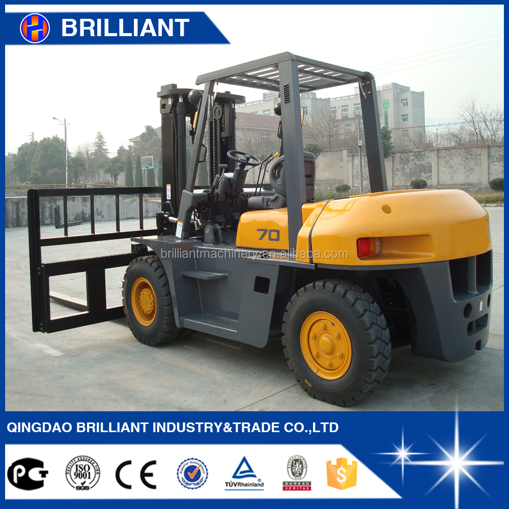 7 Ton New Forklift Price Manual Forklift for Sale with Side Shifter