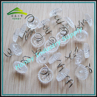 Popular 13mm plastic twisted upholstery clear thumb tacks for sofa