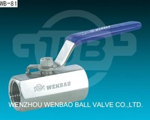 Hexagonal high pressure 1piece stainless steel ball valve class 800 / F304 316 forged ball valve dn100
