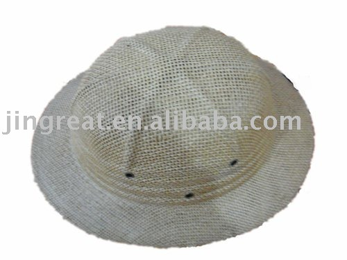 New Straw Pith Helmet Hat