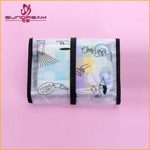 China suppliers custom 2017 product transparent PVC cosmetic bag travel organizer hook handbag bathroom waterproof toiletry bag