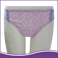 Variety of sizes sexy transparent lace purple floral teen girl thong