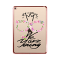 2016 new hard soft tpu for ipad cover color 3d uv printing for ipad mini case gold pink eges silicone cover for ipad air 2 case