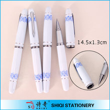 Luxury blue and white porcelain metal ball pen for gift