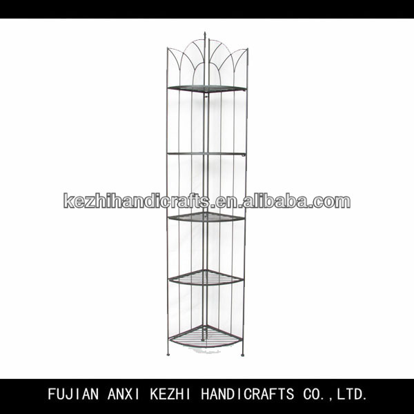 unique wrought iron 5 tier toilet corner shelf