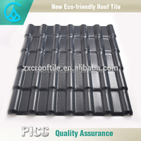 Spanish style SGS certification excellent Color lasting roof tile solar panels