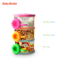 BPA Free Plastic Baby Food Milk Storage Baby Feeding Case 3 Layers Milk Boxes Container