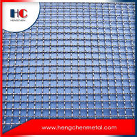 13/14/16 gauge crimped wire mesh screen fence