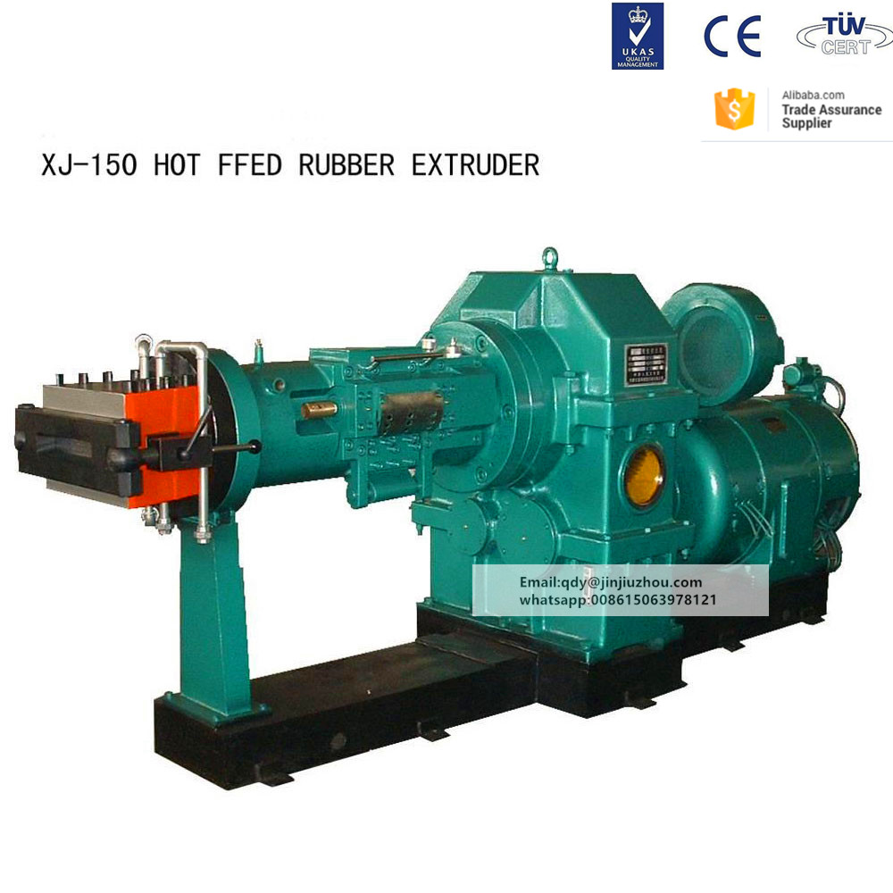 xj-115 Silicone rubber extruder machine and hot feed and cold feed extruder