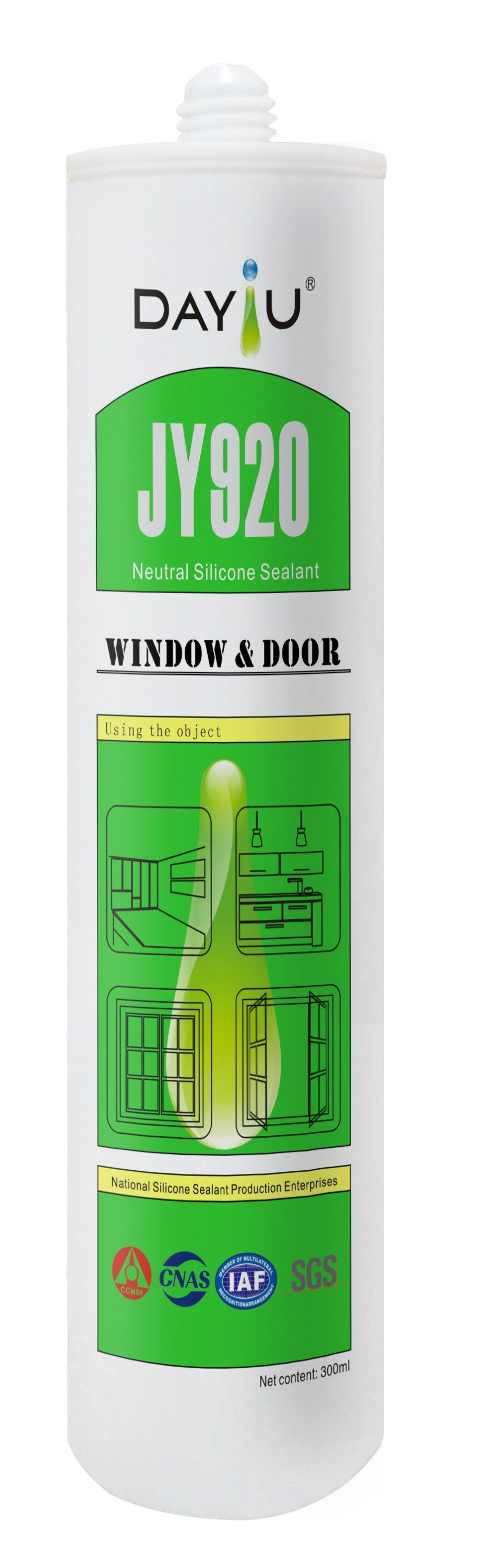 expoy resin weather proof silicone sealant the material is rtv JY920