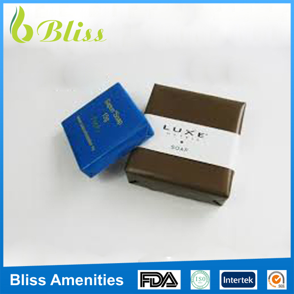 G100 Mini box packaging size square hotel soap wholesale with your logo