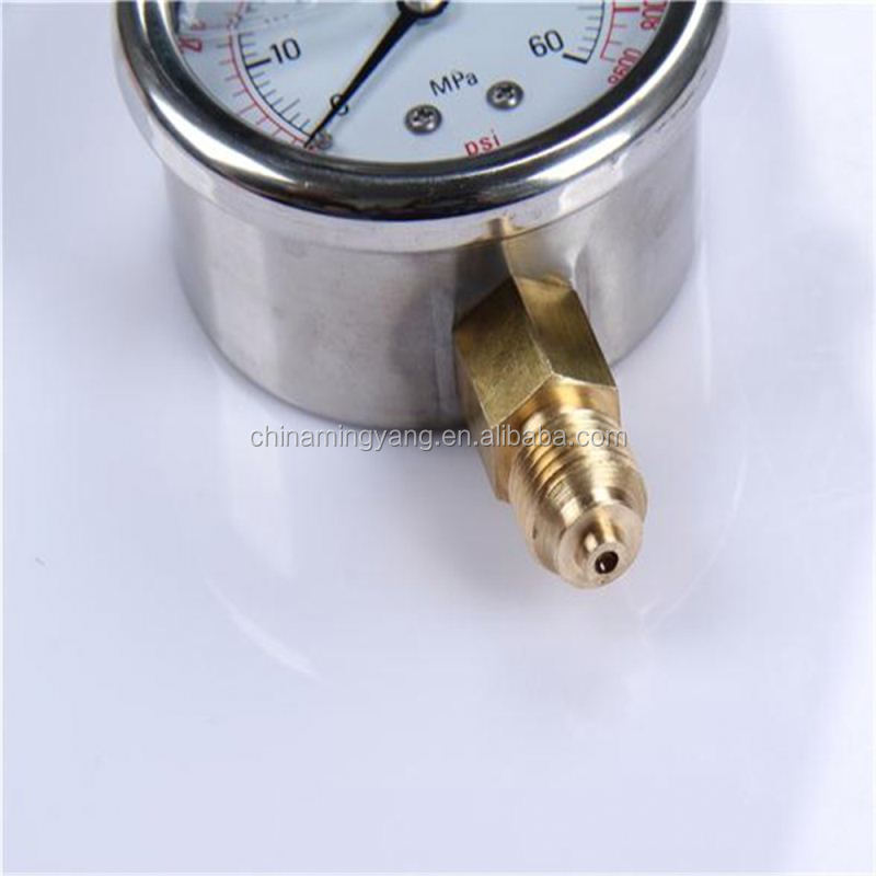 New Design Durable Light Weight Easy To Read Clear glycerine oil fillable sanitary diaphragm seal pressure gauge