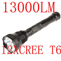 led Flashlight 12 x CREE XM-L T6 LED Super Bright 13000 Lumen 5 Modes Flashlight Torch light