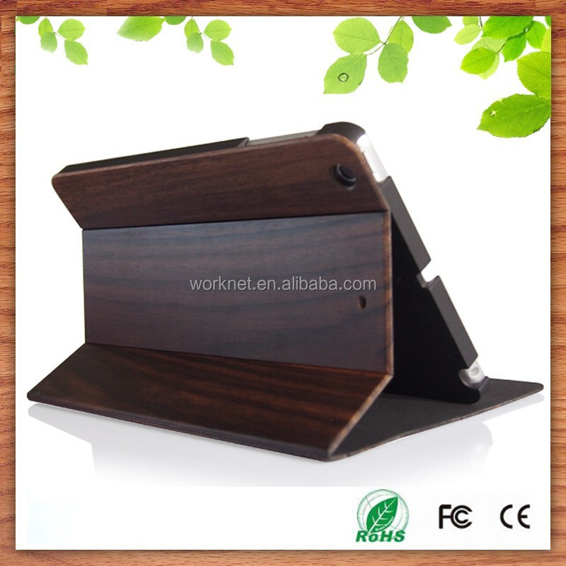 business gift cherry wood case for ipd mini 2/3