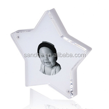 Funny Star Shape Lucite Picture Frame Stand