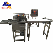 Hot sale stainless steel chocolate coating machine/chocolate enrobed candy bar production line/chocolate caramel enrober