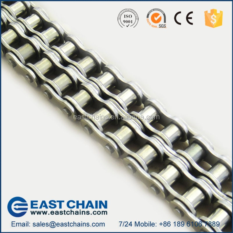 ANSI Standard duplex pitch 19.05mm 304 stainless steel roller chain 60SS-2
