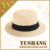 hot sale british cheap summer flat top hat with short brim panama hat cheap