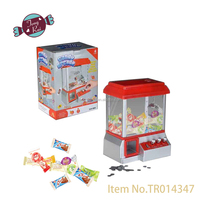 Electronic PlasticCoin Operated Candy Grabber Machine