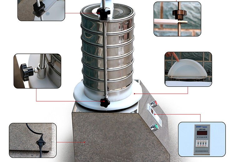 200mm Standard Test Lab Sieve Shaker