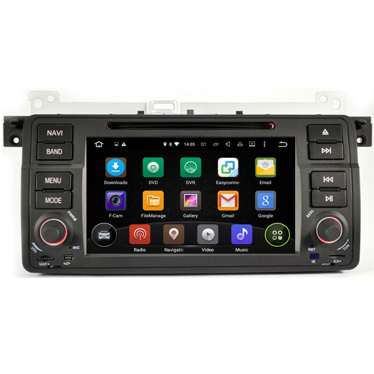 Car dvd player with Quad Core Android 5.1 system fit for BMW 3 Series E46 1998-2006 / X3 / Z3 / Z4