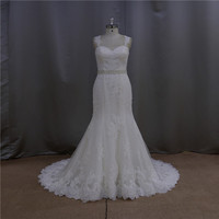 Perfect backless ghana lace wedding dress