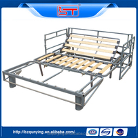 Top sale steel tube and slat 3 fold day bed frame manufacturer China