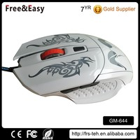 Cute animal Logo lighting show 6d wired gaming mouse