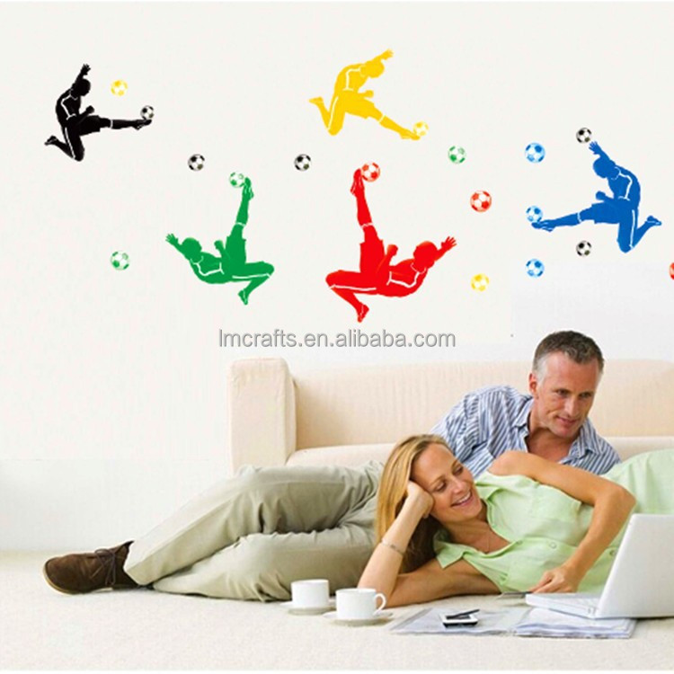 Large size 140x80cm Kids Football Boots Wall Stickers Home Decor DIY Adesivo de Parede beat.headphones Decoration sticker JM7273