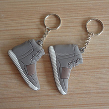 soft PVC mini running shoe shape keyring for promotion