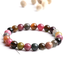 2018 Factory direct selling Classical Small natural stone Tourmaline Beads Bracelet